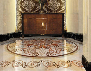 Exquisite Design Marble Like PVC Vinyl Floor Mural, Self-Adhesive, Custom Sizes Available Household-Wallpaper-Floor Maughon's