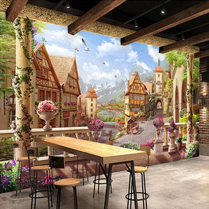 Fairy Tales Town Wallpaper Mural, Custom Sizes Available Household-Wallpaper Maughon's