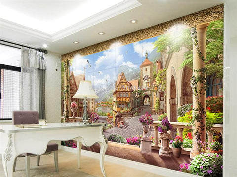 Image of Fairy Tales Town Wallpaper Mural, Custom Sizes Available Household-Wallpaper Maughon's