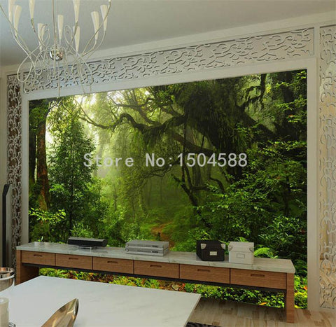 Image of Forest Nature Landscape Wallpaper Mural, Custom Sizes Available Household-Wallpaper Maughon's