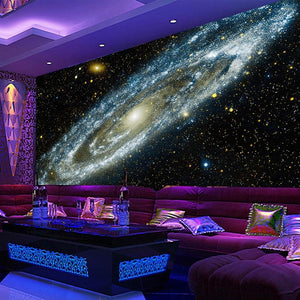 Galaxy Starry Nebula Wallpaper Mural, Custom Sizes Available Household-Wallpaper Maughon's