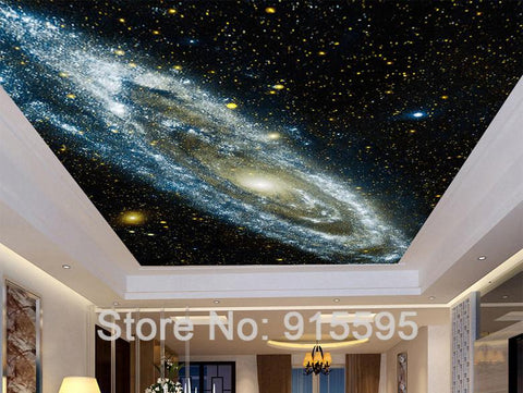 Image of Galaxy Starry Nebula Wallpaper Mural, Custom Sizes Available Household-Wallpaper Maughon's