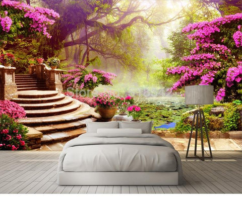 Image of Garden Forest Landscape Wallpaper Mural, Custom Sizes Available Household-Wallpaper Maughon's