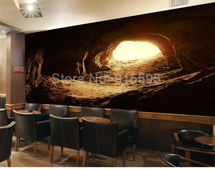 Light at the End of the Cave Wallpaper Mural, Custom Sizes Available Household-Wallpaper Maughon's