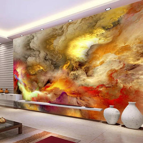 Image of Modern Abstract Art Wall Painting Wallpaper Mural, Custom Sizes Available Household-Wallpaper Maughon's