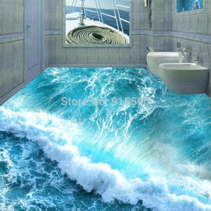 Ocean Seawater Self-adhesion Floor Murals, Custom Sizes Available Household-Wallpaper-Floor Maughon's