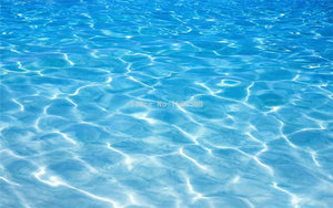 Seawater PVC Waterproof Vinyl Floor Mural, Self Adhesive, Custom Sizes Available