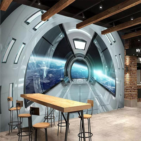 Spacecraft Capsule Wallpaper Mural, Custom Sizes Available Household-Wallpaper Maughon's
