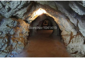 Stone Wall Cave Tunnel Wallpaper Mural, Custom Sizes Available