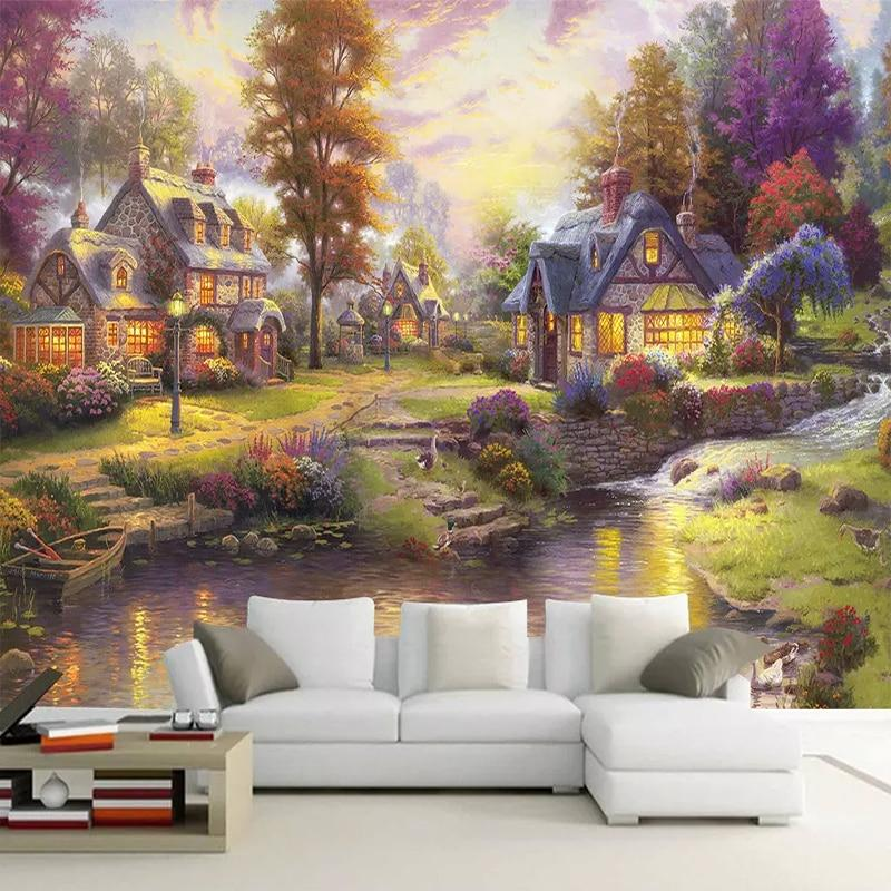 Thomas Style Forest Landscape Wallpaper Mural, Custom Sizes Available Household-Wallpaper Maughon's