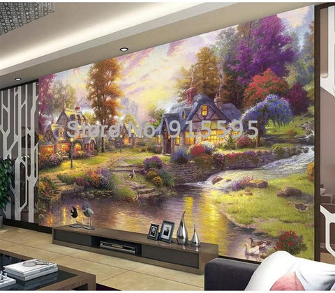 Image of Thomas Style Forest Landscape Wallpaper Mural, Custom Sizes Available Household-Wallpaper Maughon's