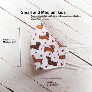 Kids Face Masks - Two Layer - 100% Cotton