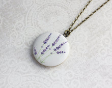 Load image into Gallery viewer, Lavender Flowers Locket