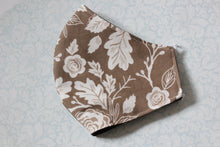 Load image into Gallery viewer, Two Sided Chocolate Floral Face Mask*
