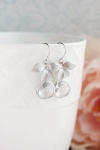 Orchid and Glass Earrings (more colors)