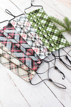 Load image into Gallery viewer, Pleated Cotton Face Mask - Plaids