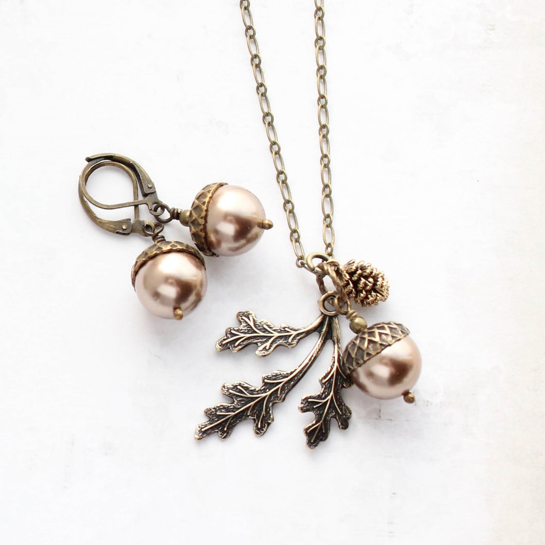 Acorn Necklace - Copper