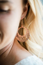 Load image into Gallery viewer, Round Filigree Earrings - Rose Gold