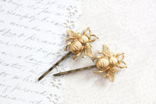 Load image into Gallery viewer, Bee Bobby Pins - Rose Gold (set of 2 pins)