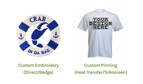 additional service from greenchef: embroidery and printing