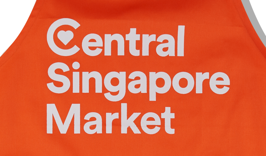Upclose shot of Central Singapore Market Printing