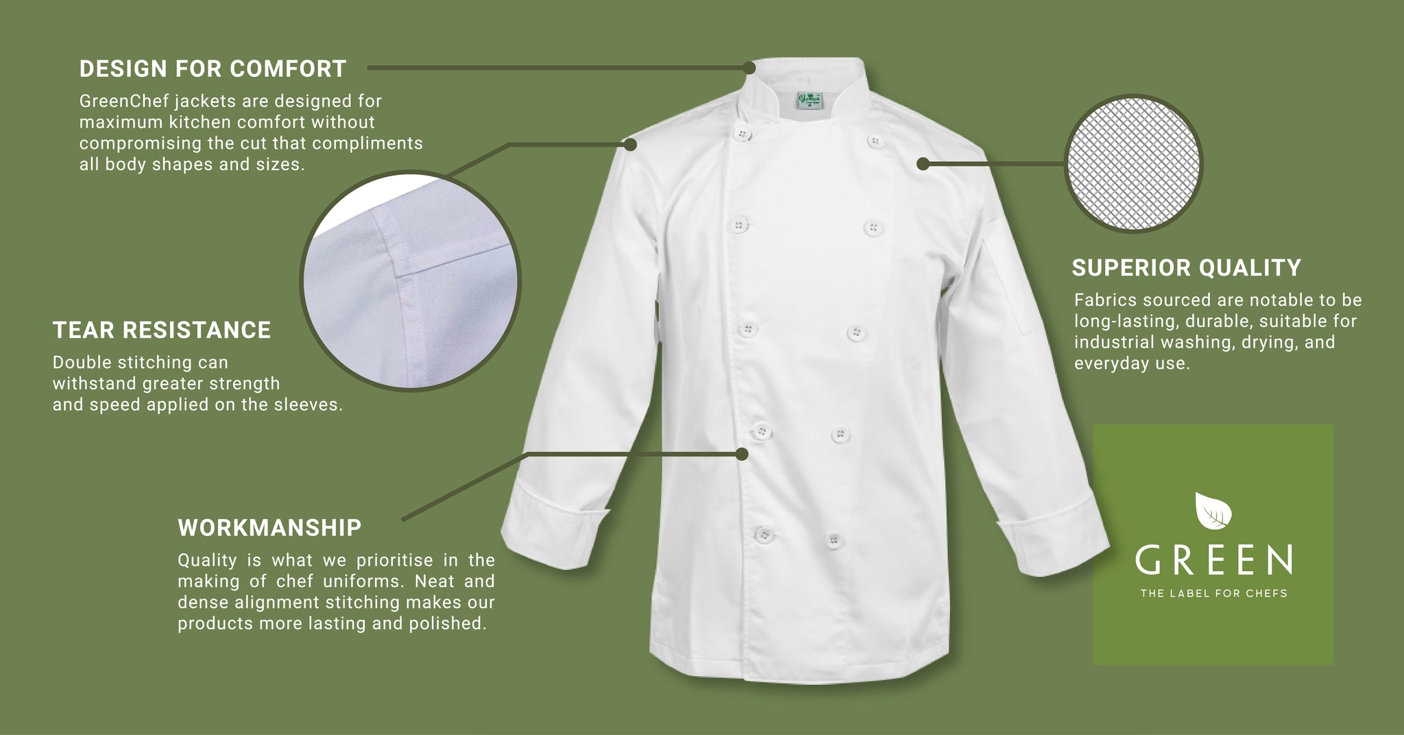 What defines a good chef jacket