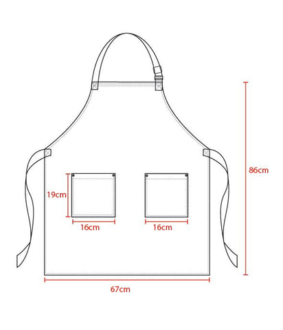 joey denim bib apron