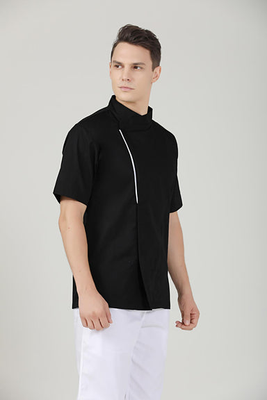 Basil Black Chef Jacket - Minimal Design