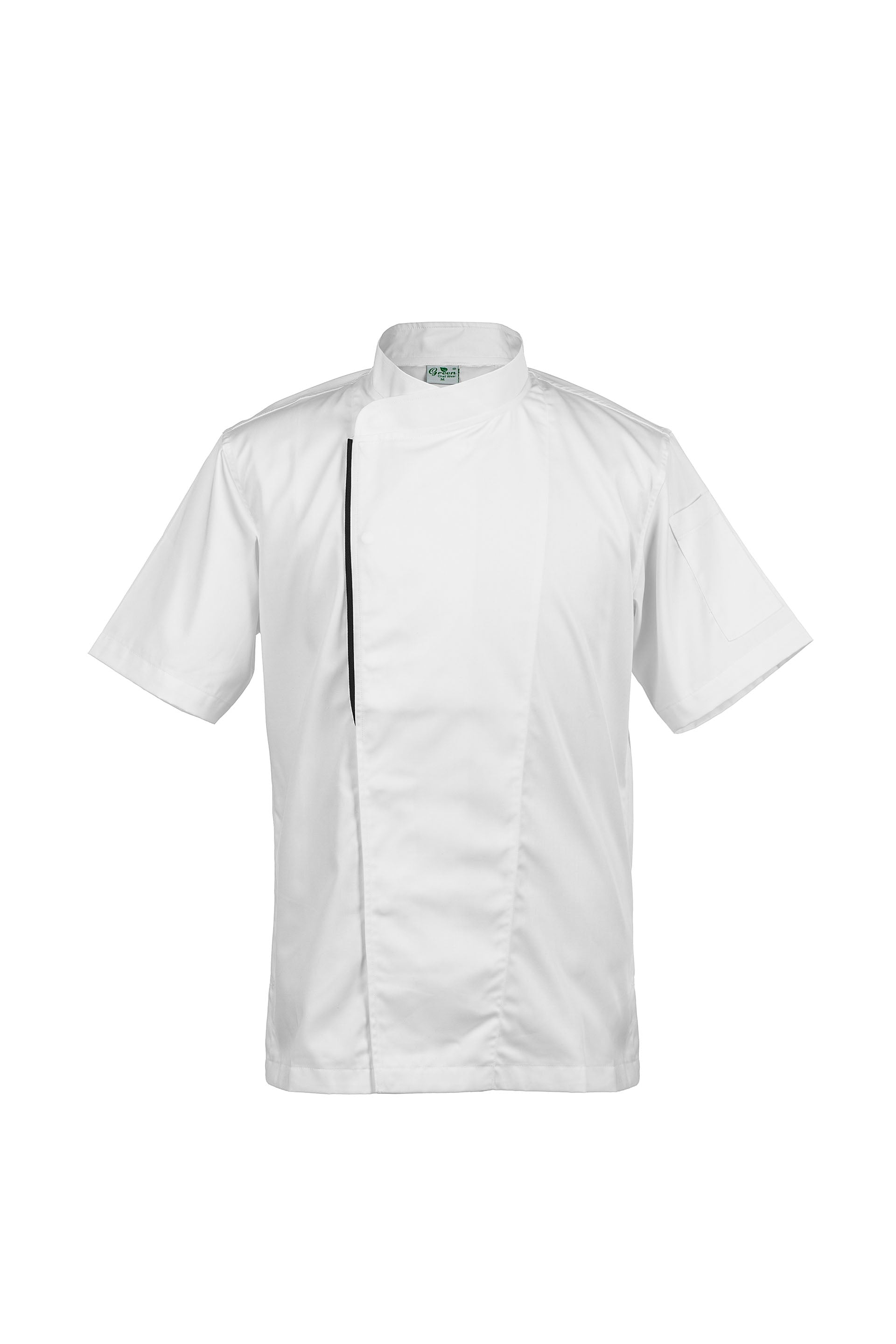 basil white short sleeve front view