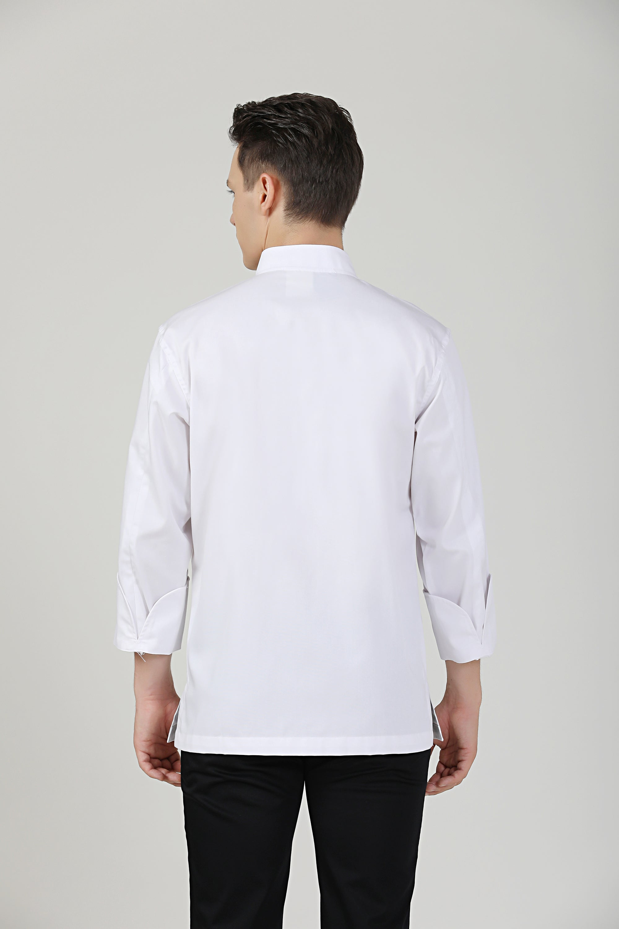 Basil White Long Sleeve Chef Jacket