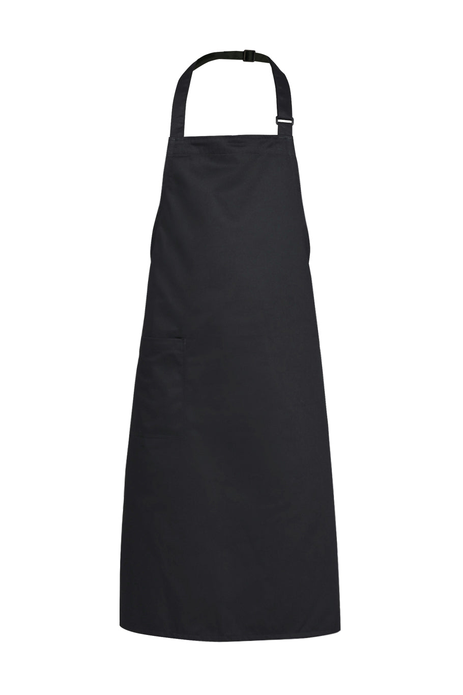 black bib apron, black full apron