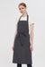 Grey Denim Bib Apron, Front View
