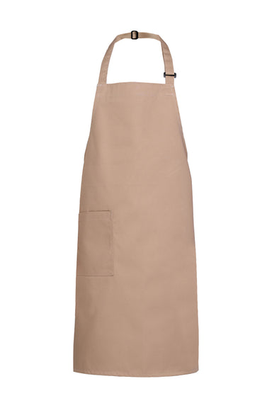 khaki light brown bib apron