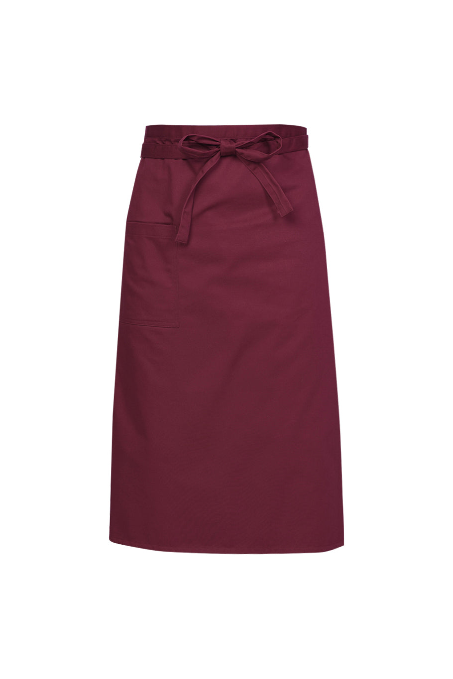 maroon red chef apron