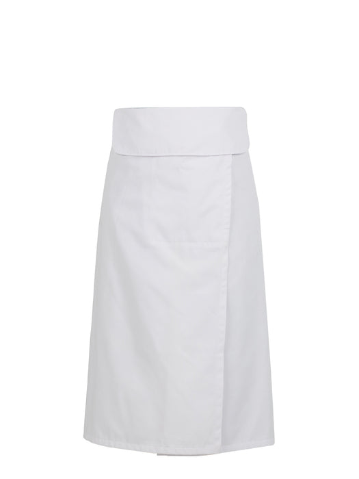 White Flap Chef Apron with Slit