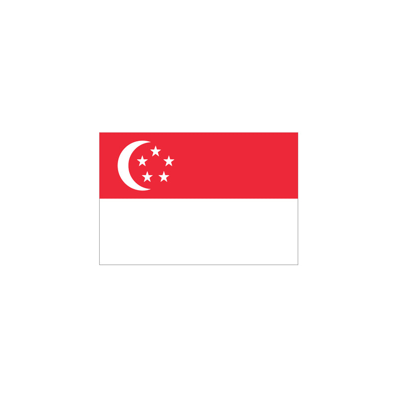 Singapore flag embroidery