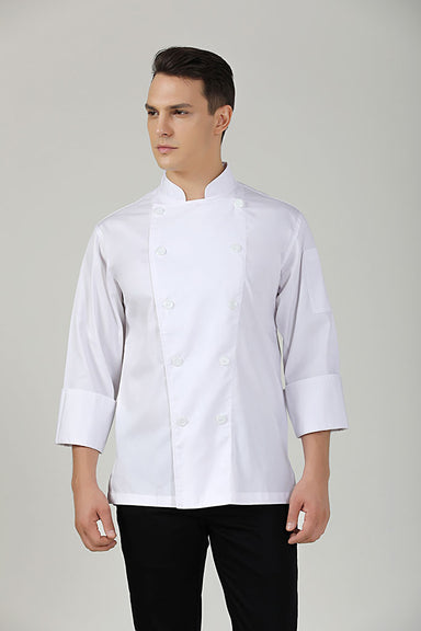 BClassic white long sleeve chef jacket