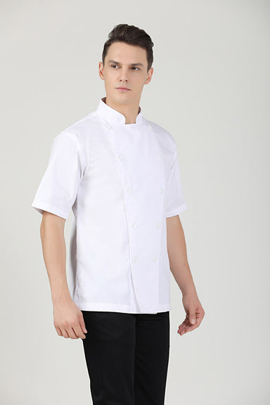 Classic Chef Jacket Short Sleeve, Side View