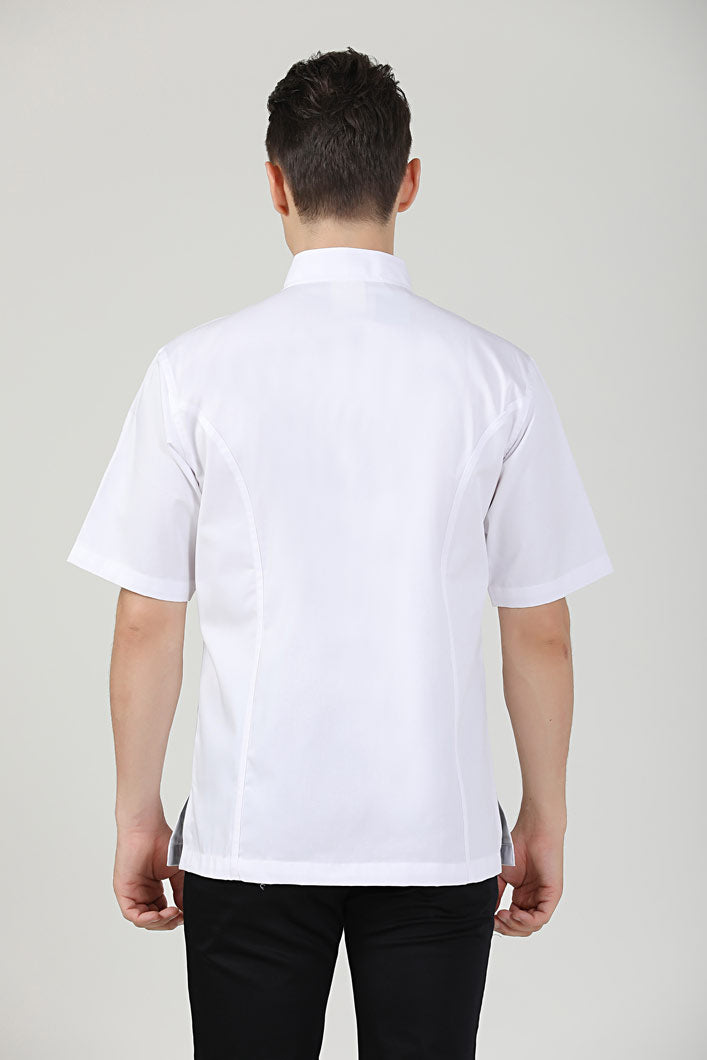Classic Chef Jacket Short Sleeve, Back View