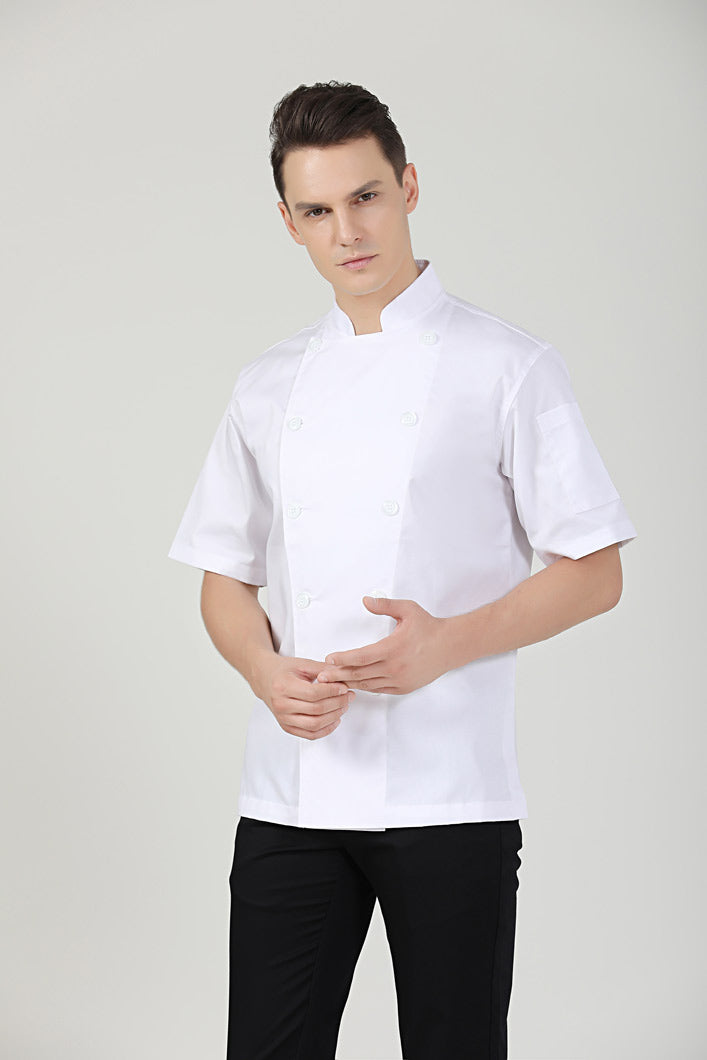 Classic Chef Jacket Short Sleeve, Front View