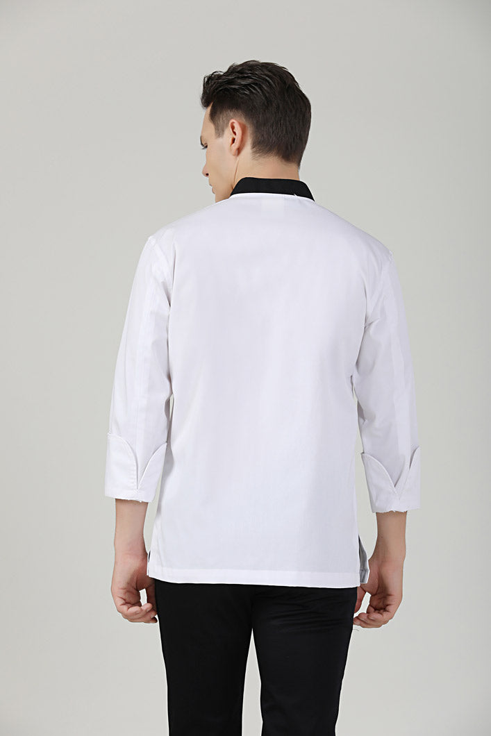 Caper Chef Jacket Back View