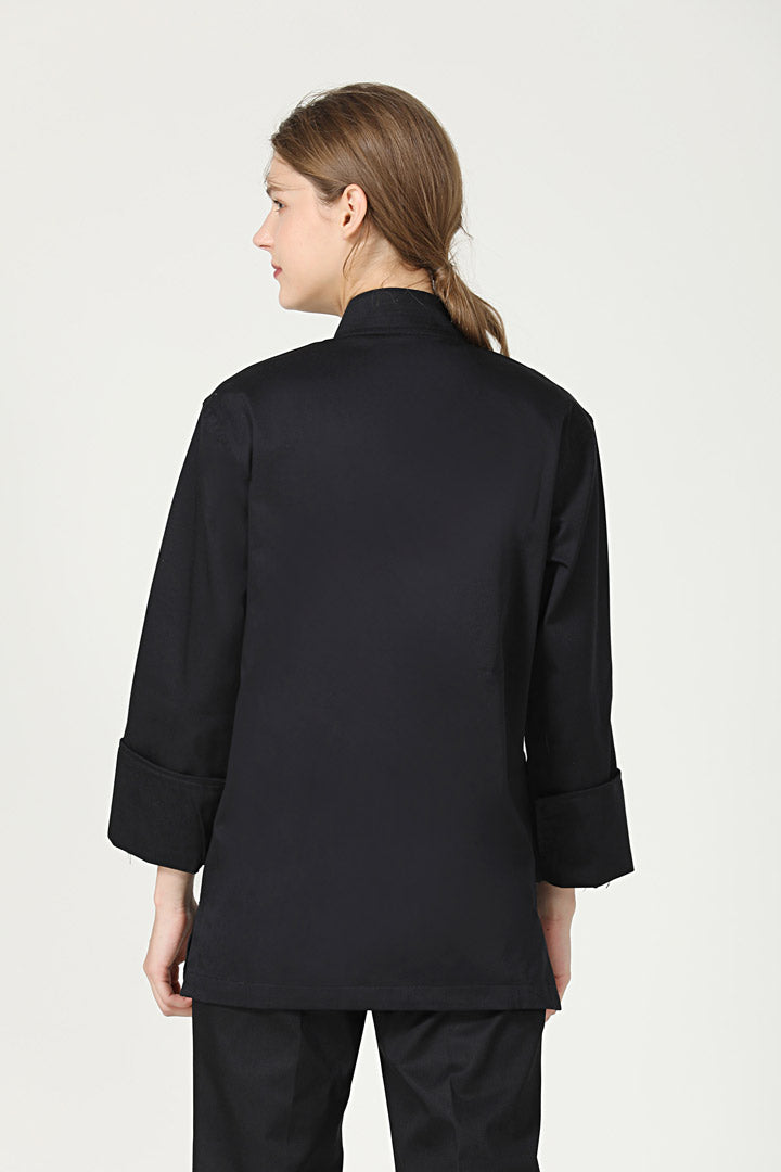 Meiji Black Long Sleeve Back VIew