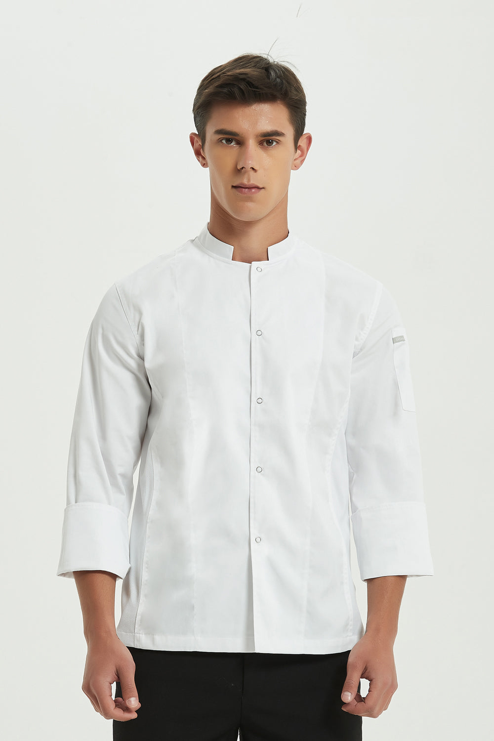Mint White Chef Jacket with Dri-fit