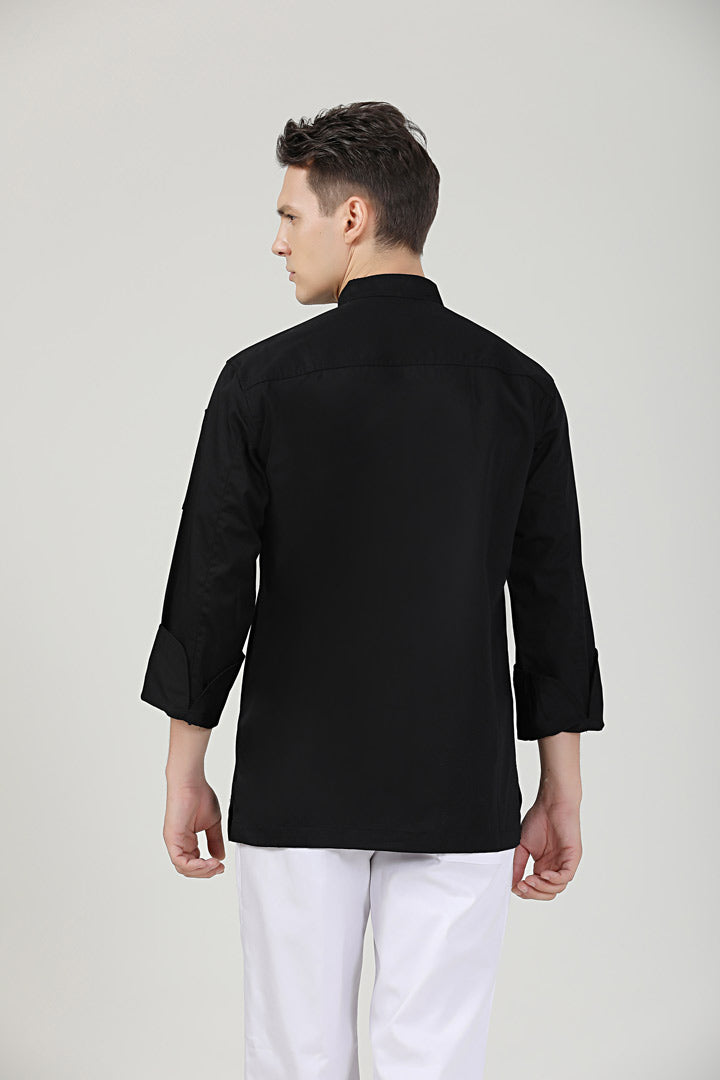 Thyme Black Long Sleeve Back View