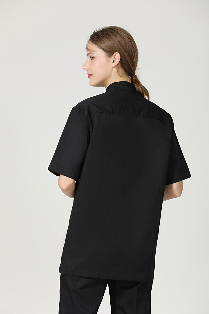 Thyme Black Short Sleeve Back View