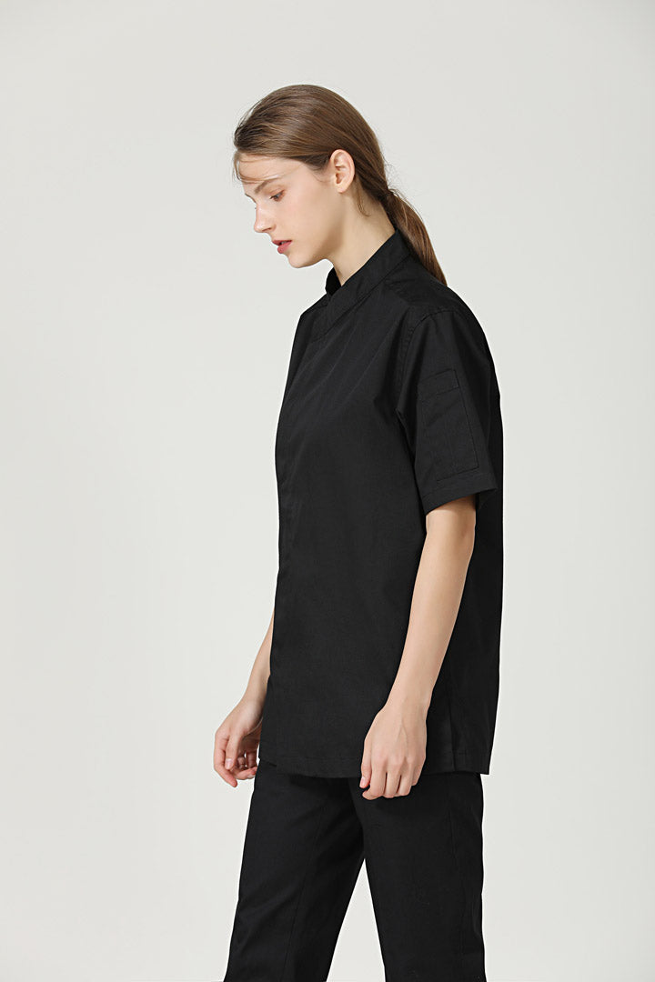 Thyme Black Short Sleeve Side View