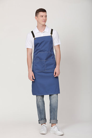 Xion Blue Apron with Black Straps
