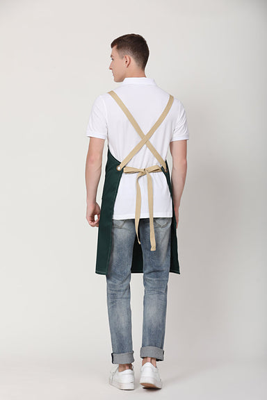Xion Green Apron with Khaki Straps