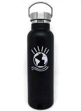 "Load image into Gallery viewer, Globe Water Bottle ""Black"""