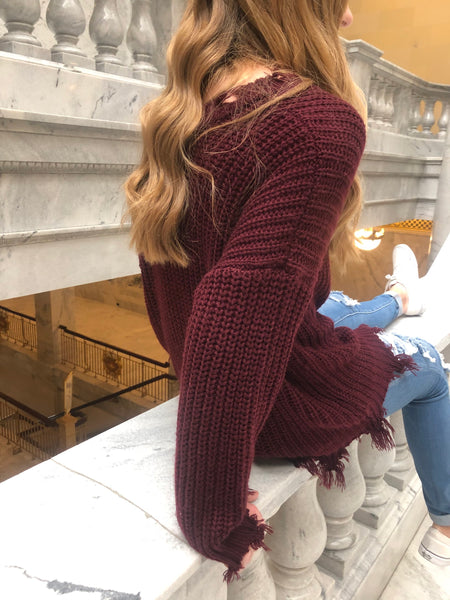 Miracle Sweater Burgundy